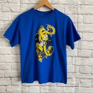 3/$30🦋 THE SIMPSONS BART SIMPSON Blue T-Shirt